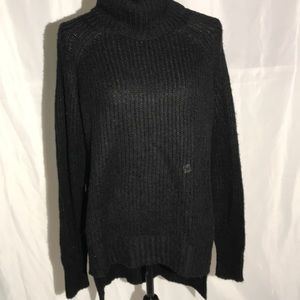 Express Cowlneck Black Cableknit Sweater